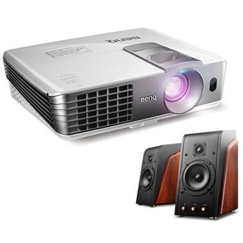 明基(BenQ)W1070+家用投影&惠威(HiVi)M200MKII有源音箱 2.0音箱 Hi-Fi音响